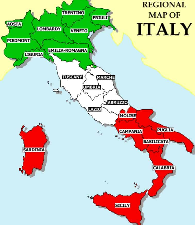About Italy Travel Guide ItalianTourismus - Regions of us map