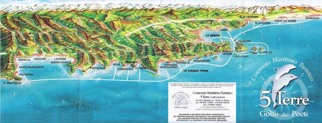 map cinque terre ferry portofino portovenere