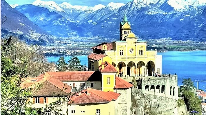 switzerland and italian laes tour lake maggiore madonna del sasso