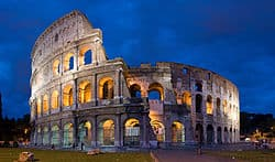 night picture rome colosseum