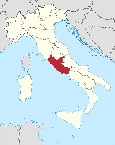 lazio sightseeing map