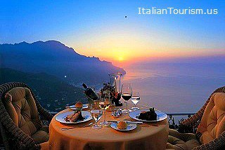 amalfi coast vacations sunset dinner
