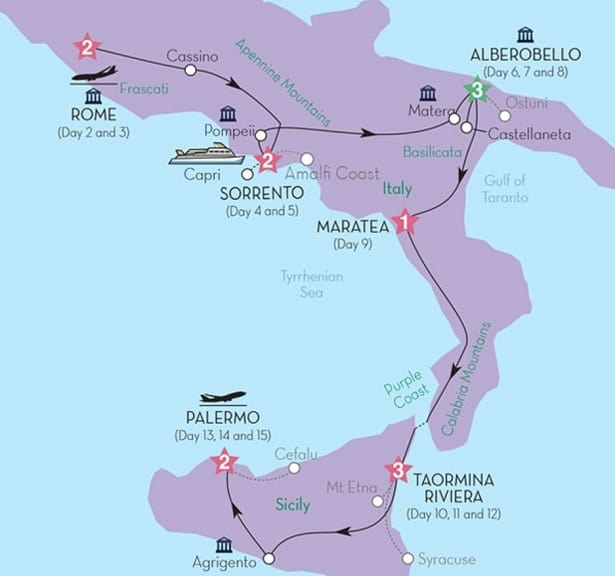 southern italy tour rome to sicily