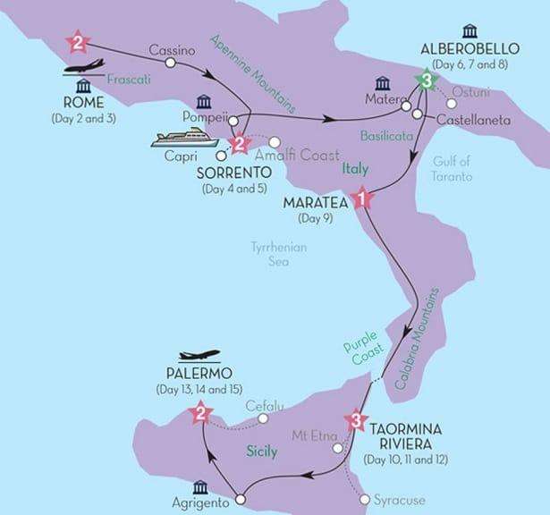 Rome to Sicily Tour