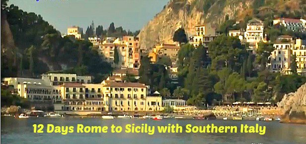 inclusive sicily to rome tour