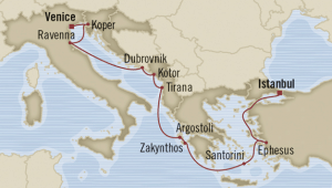 map italy cruise istanbul venice