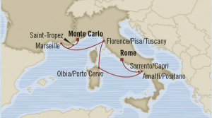map italy cruise rome montecarlo