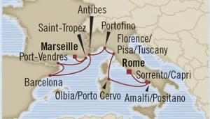 map italy cruise rome provence