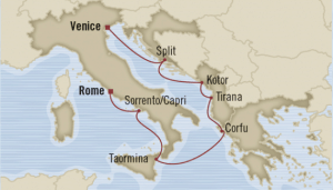 map summer italy cruise venice rome