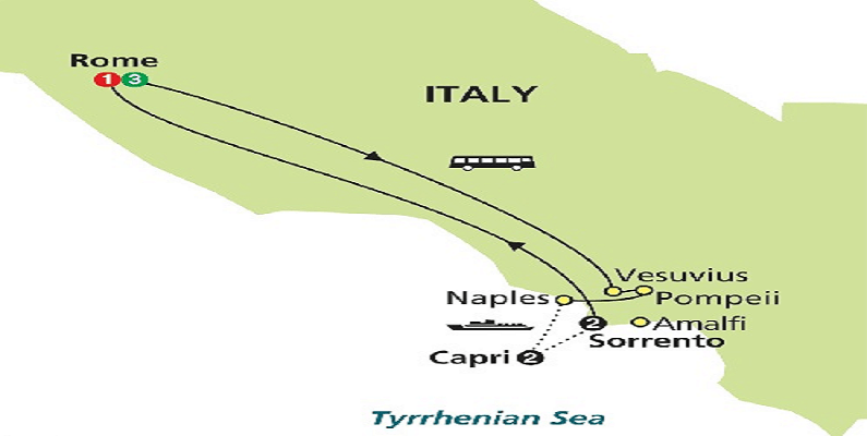 map-rome-capri-sorrento-tour