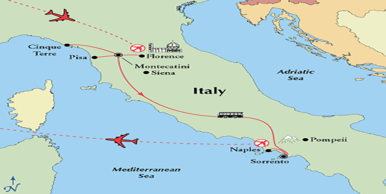 map-tuscany-southern-italy