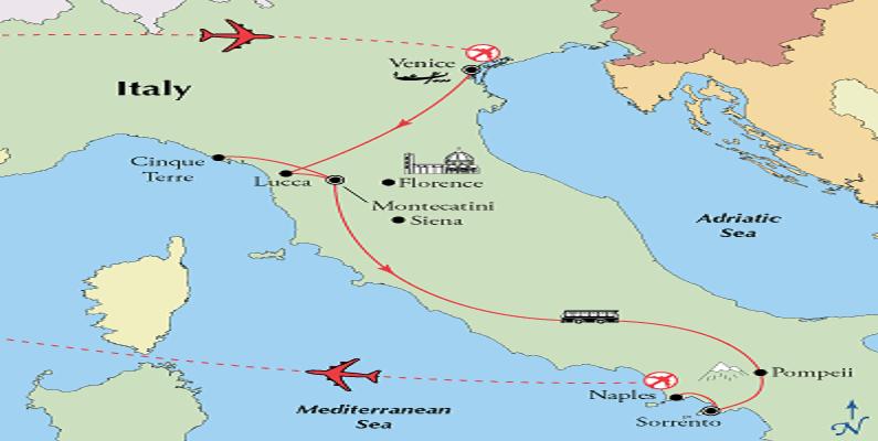 map-venice-tuscany-amalfi-coast