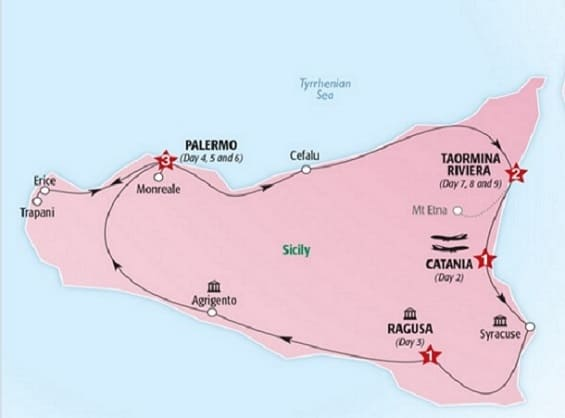map sicily in depth tour