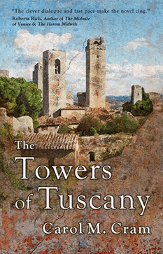 book cover towers of tuscany