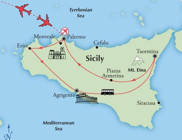 best sicily tour affordable map
