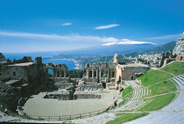 sicily greek theater mt etna