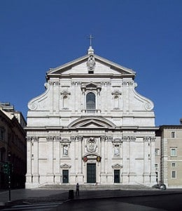 facade church of gesu rome