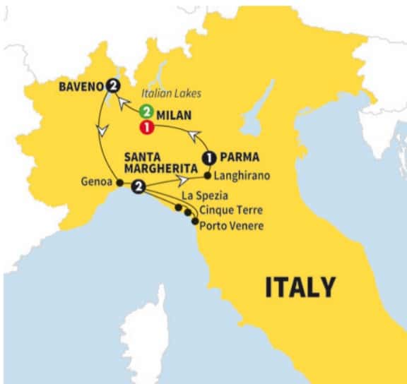 Day Tour Of Northern Italy