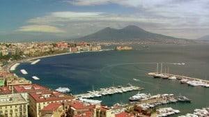 Naples Bay with Mt Vesuvius