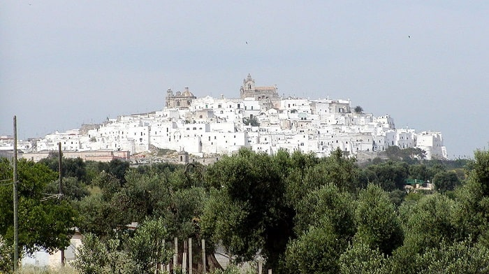 southern italy ostuni white washed buildings