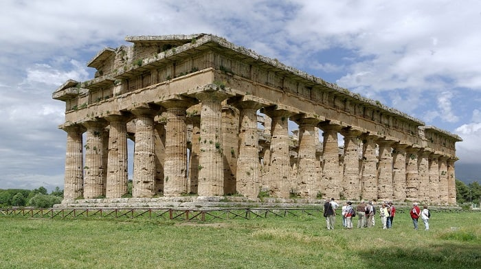 Paestum Greek Temple Campania Southern Italy