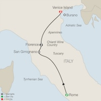 rome florence venice italy tour 8 day itinerary map