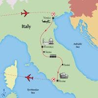 venice-florence-rome-italy-tour-siena-assisi-itinerary-map