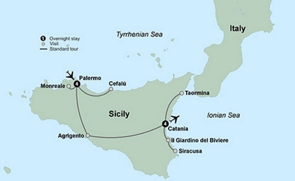 leisurely sicily in-depth tour itinerary