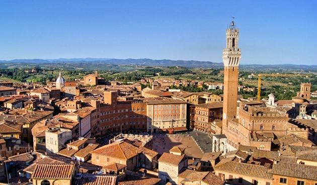 Siena main square tuscany rome tour
