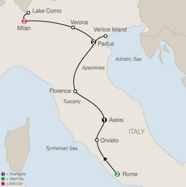 9 Day Rome Assisi Padua Milan Tour Northern Italy Tours