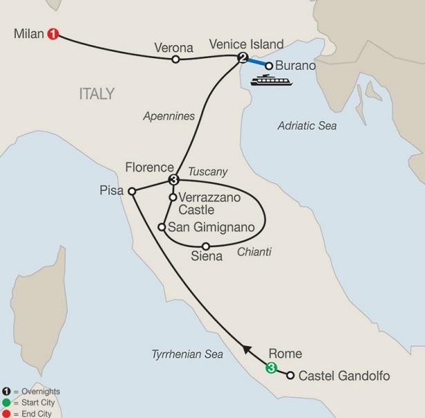 rome-florence-venice-milan-siena-sangimignano-pisa-verona-italy-tour