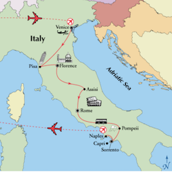 top rated italy tour map venice florence rome amalfi coast