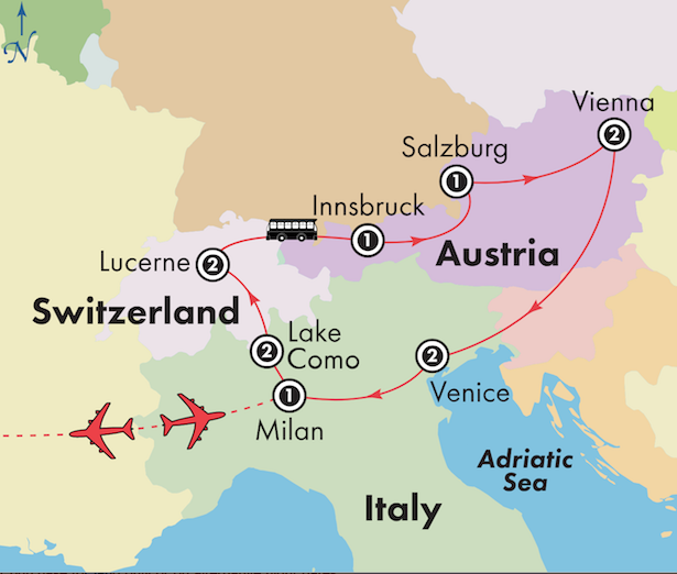 Northern Italy Tour with Austria and Switzerland | Milan, Salzburg ...