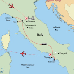 tuscany amalfi coast top rated southern italy tour map