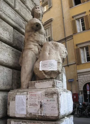 rome vacations via governo vecchio pasquino