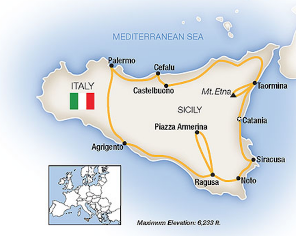 luxury 2020 sicily tour 2020 itinerary map