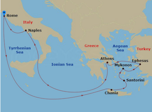 ncl explorer of seas rome itinerary map