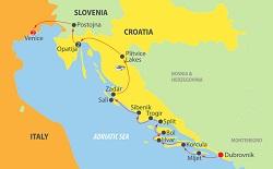 dubrovnik venice dalmatian coast map