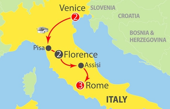 venice florence rome escorted tour with ferrara