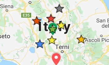 italy travel guide umbria map location