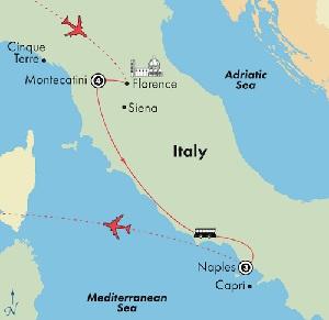 tuscany naples escorted italy tour itinerary