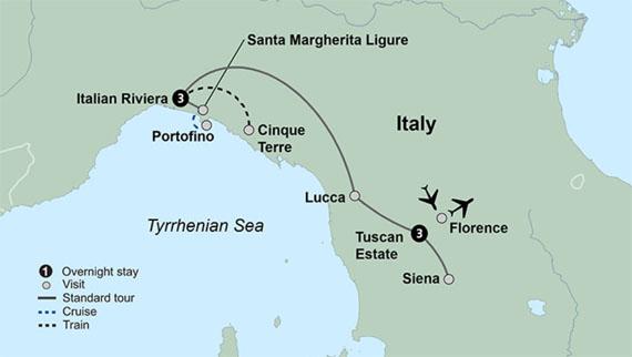 tuscany italian riviera tour